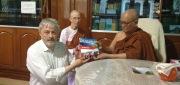 BFN president Egil Lothe with meditation master U Pandita