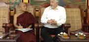 BFN president Egil Lothe with Ashin Vithuda of Sitagu Academy Yangon